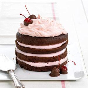 bhg chocolate cherry stack cake
