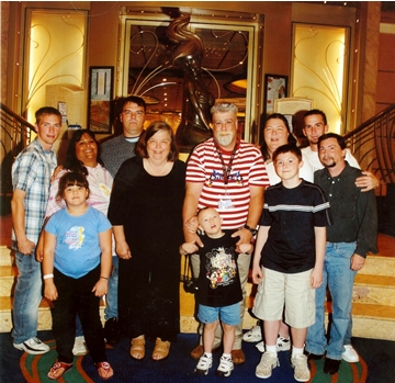 disney family vacation group pic