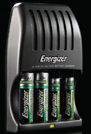 energizer 15 min battery charger