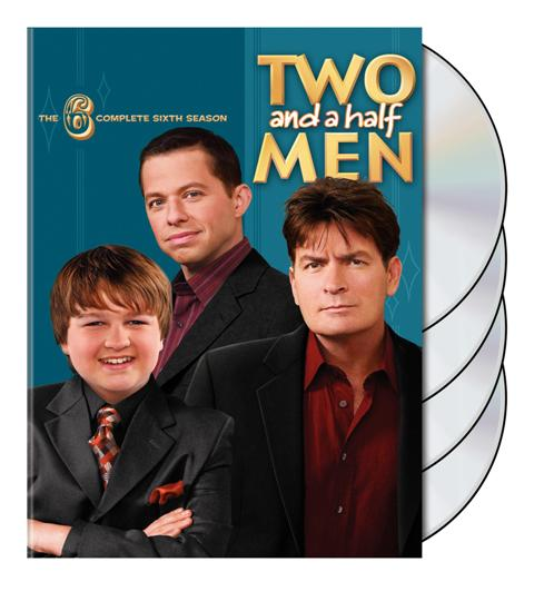 two and a half men season 6 dvd cover