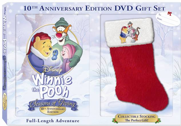 winnie the pooh 10th seasons of giving dvd cover