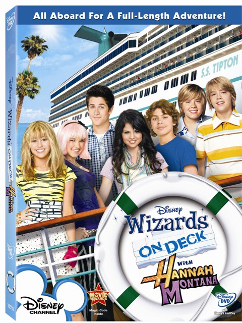 wizards on deck with hannah montana dvd cover