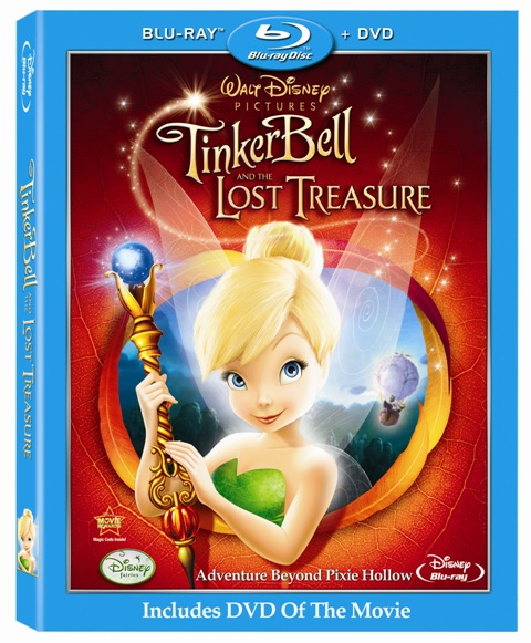 tinker bell and the lost treasure bluray cover