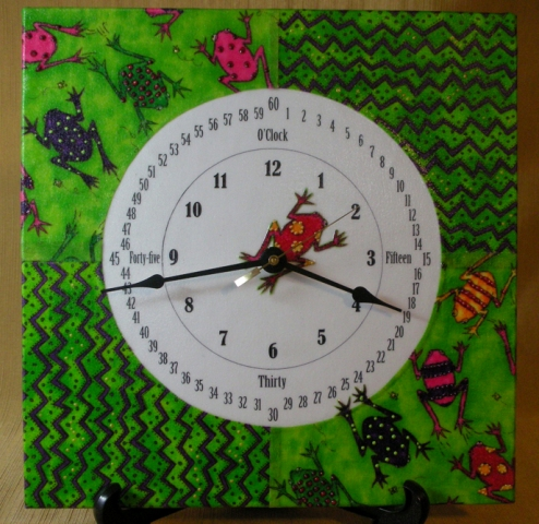 learn time teach time analog clock frogs
