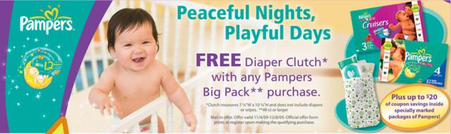 pampers free diaper clutch
