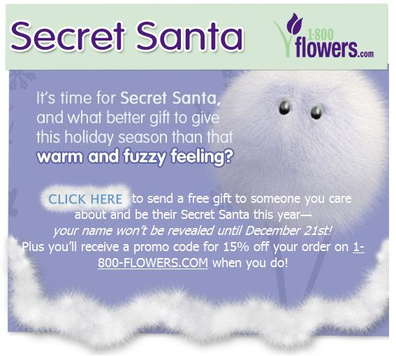 1800flowers secret santa