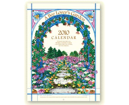 a bee lovers garden 2010 calendar cover