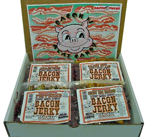 bacon freak bacon jerky gift basket