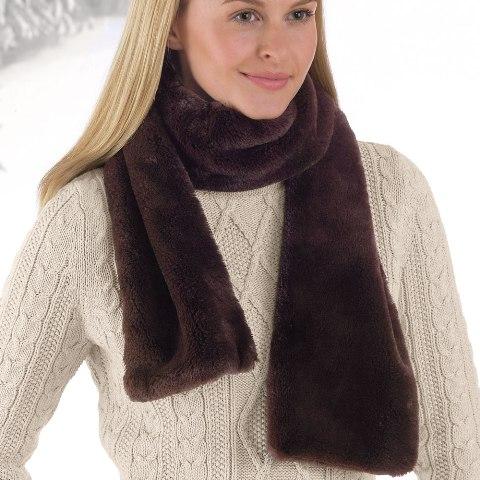 brookstone luxe plush scarf