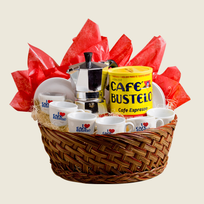 cafe bustelo gift basket
