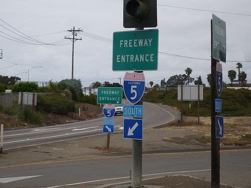 california 5 sign