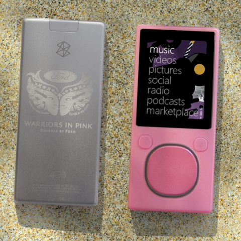 ford cares pink zune