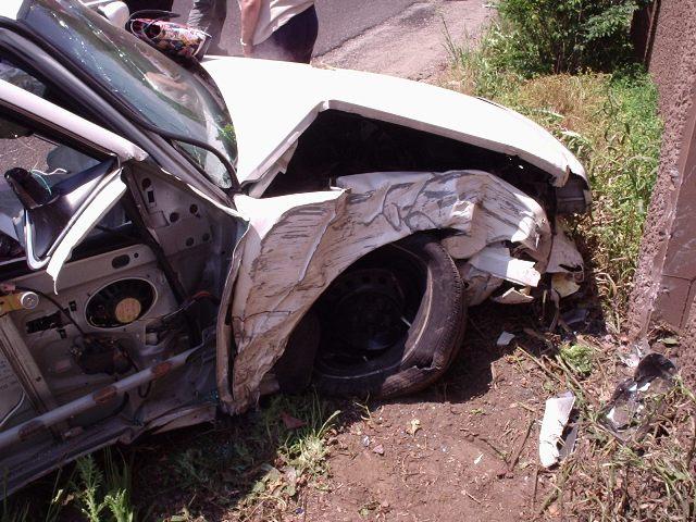 front end crown vic crash