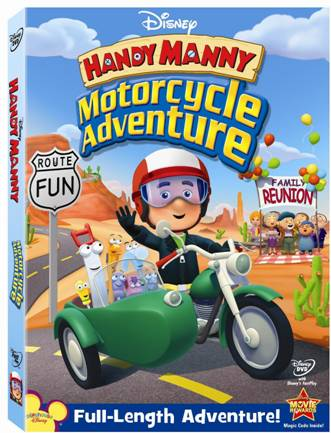 handy manny motorcycle adventure dvd cover