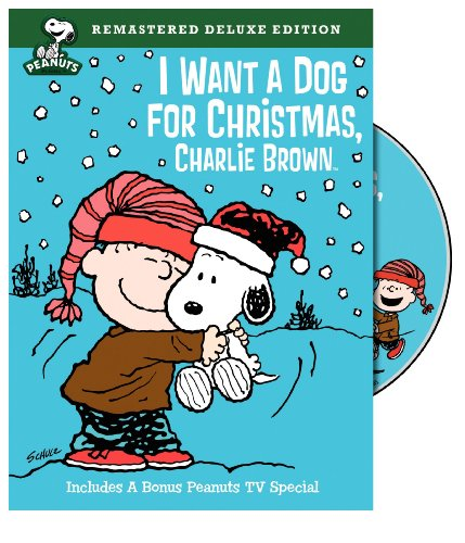 i want a dog for christmas charlie brown dvd cover