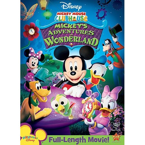 mickey mouse clubhouse mickeys adventures in wonderland dvd cover