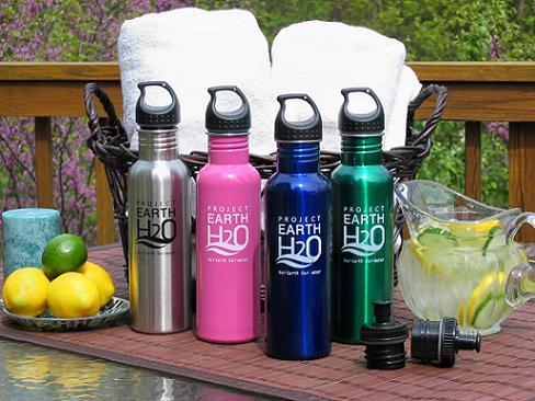 project earth h2o bottles