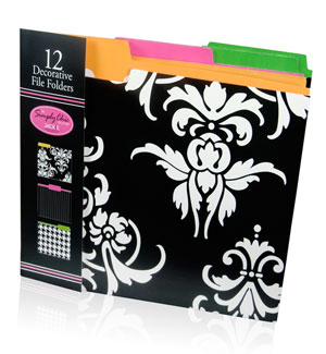 simply chic file folders