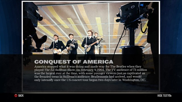 the beatles rock band info screenshot