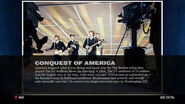the beatles rock band info screenshot