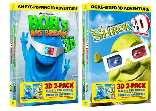 bobs big break and shrek in 3d dvd covers