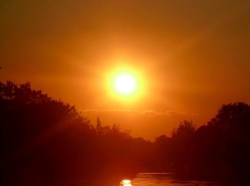 WW: Golden Sunset Along the Water