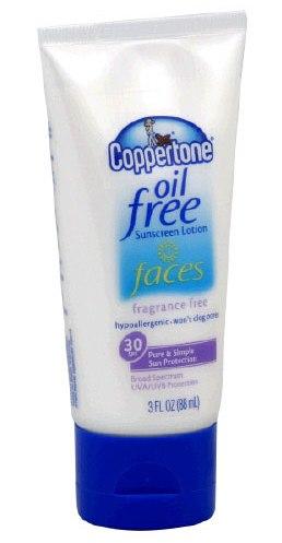 Coppertone Oil Free Faces