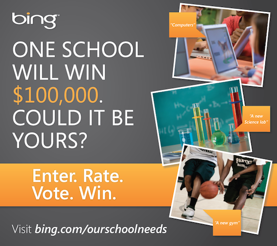 The bing our school needs contest is on what does your for Free travel posters for teachers