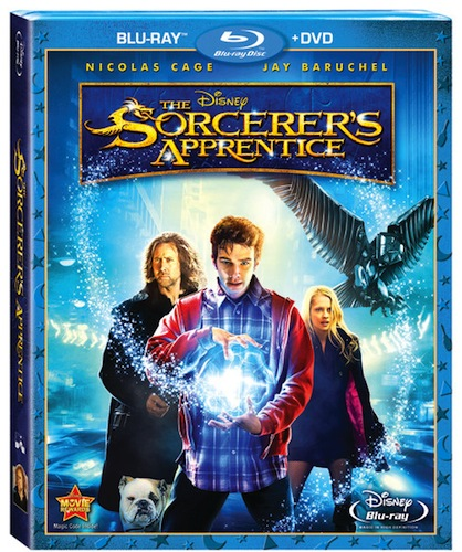 The Sorcerers Apprentice Bluray Cover. The clip following the credits poises