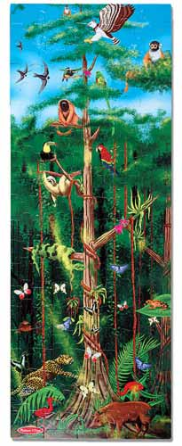 Melissa And Doug Rainforest Floor Puzzle
