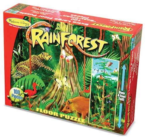 Melissa And Doug Rainforest Floor Puzzle Box