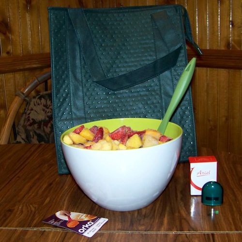 Green Giant bag bowl and spoon