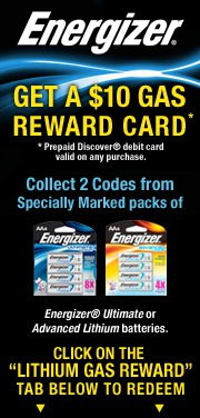 Energizer Discover Rewards Gas