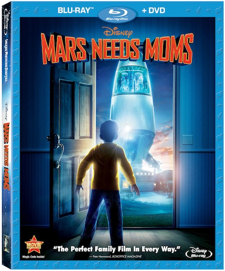 Mars Needs Moms Bluray Cover