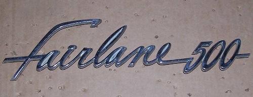Fairlane 500 Emblem