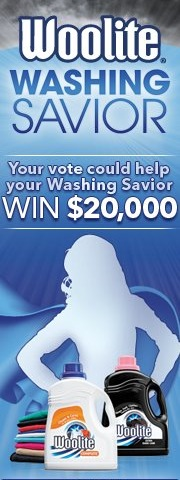Woolite Washing Savior Contest Banner