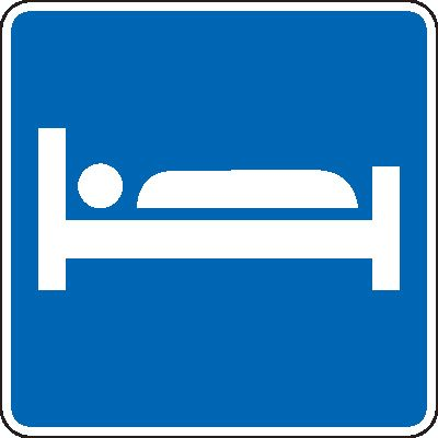 Lodging Highway Sign Symbol