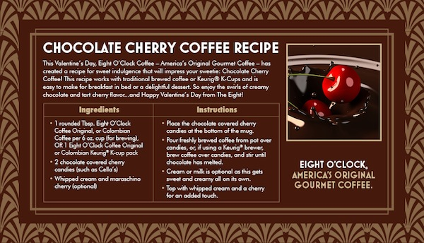 Eight o'clock Coffee Chocolate Cherry Coffee Recipe
