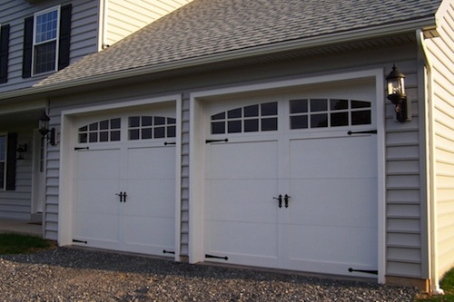 White Double Garage Doors