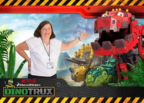 Wordless Wednesday *   Unlikely DinoTrux Buddies