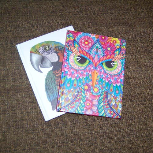 Hello Angel Lined Journal Owl and TangleEasy Lined Journal Parrot